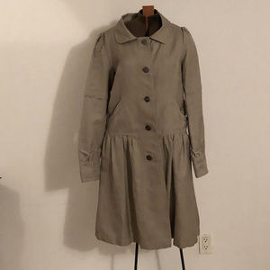 H&M fashion trench coat with gathered skirt